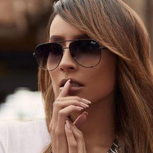 Quay High Key Mini Sunglasses Black Fade Lenses